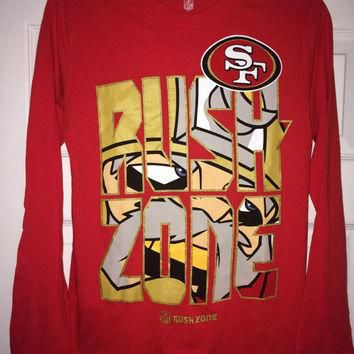 Sale!! Vintage San Francisco SF 49ers football shirt NFL youth jersey
