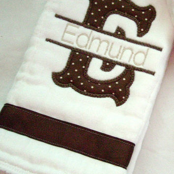 2 Personalized Baby Burp Cloths - Monogrammed Burp Cloth - Applique Burp Cloth, Diaper Burp Cloths, Monogrammed Baby, Baby Shower