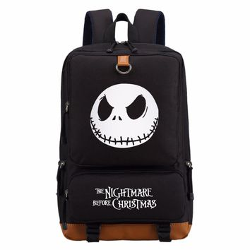 The nightmare before christmas casual backpack teenagers Men women's Student School Bags travel Shoulder Bag Laptop Bags