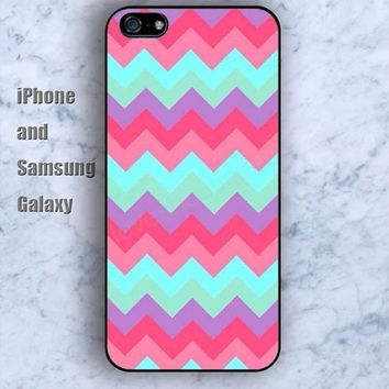 Rainbow Chevron colorful iPhone 5/5S Ipod touch Silicone Rubber Case Phone cover Waterproof