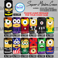 super minion case colection - iPhone 4/4s/5 Case - Samsung Galaxy S3/S4 Case - Black or White