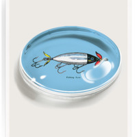 Fishing Lure Crystal Oval Paperweight