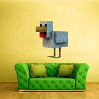 Full Color Wall Decal Vinyl Sticker Decor Art Bedroom Design Mural Like Paintings Minecraft Video Game Chicken (col441)