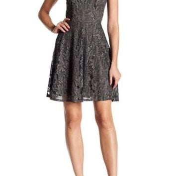 DCCKHB3 Soprano | V-Neck Lace Skater Dress