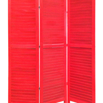 Screen Gems Shutter Screen Room Divider, Red