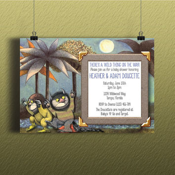 Instant Download-Where the Wild Things Are DIY Printable Microsoft Word Kids Birthday Baby Shower