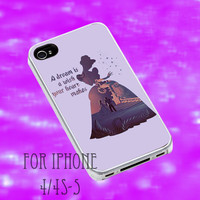 Cinderella Disney Princess A Dream is a Wish iPhone case, iPhone 4/4s/5/5s/5c, iPod 4/5 case, Samsung Galaxy S3/S4 case,