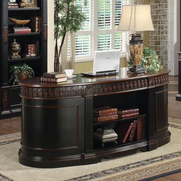 Coaster Company Black/ Cherry Wood Executive Oval Desk | Overstock.com Shopping - The Best Deals on Desks