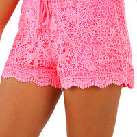 Life's A Sunrise Shorts: Neon Pink