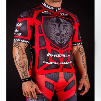 High Quality Pro Team Rock Racing Bike Cycling Clothing Men Summer Ropa Ciclismo Breathable Short Sleeve Cycling Jerseys sets