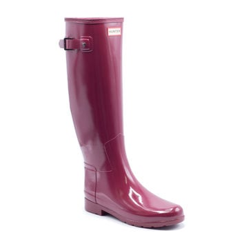 Hunter Women's Red Original Refined Gloss Rain Boots