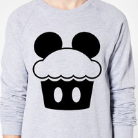 Mickey Cupcake Sweater - American Apparel Unisex Sizes S, M, L, XL - Custom Color