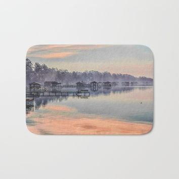 Lake Waccamaw Morning Bath Mat by Scott Hervieux