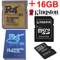 R4iDSN Gold 3DS with Kingston 16gb MicroSDHC card