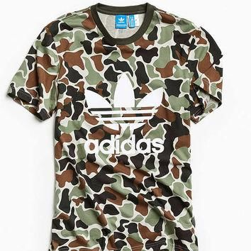 adidas Camo Trefoil Tee | Urban Outfitters