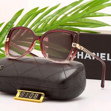 Chanel Woman Fashion Summer Sun Shades Eyeglasses Glasses Sunglasses