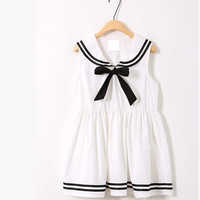 Sailor bowknot vest dress lolita vest dress two colors from Sweetbox Store
