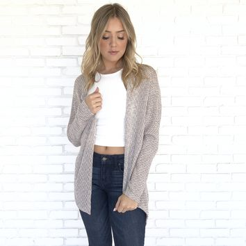 Cool Earthtone Knit Cardigan