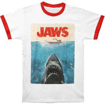 Jaws Men's  Poster T-shirt White
