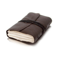 Recycled leather journal diary notebook mini by BrotherWorks
