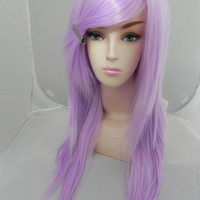 ON SALE Purple Passion / Light Purple / Long Straight Layered Wig