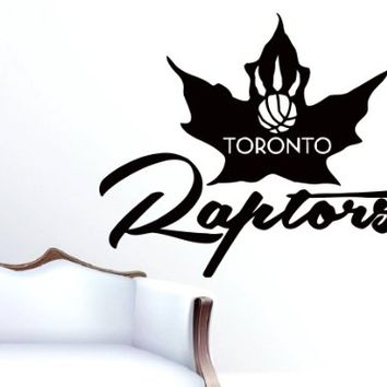 Toronto Raptors Team Logo American Basketball NBA Wall Vinyl Decal Mural Decals Art Home Interior Sticker W1648