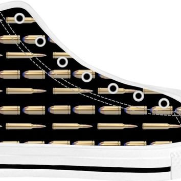 Bullets Shoes White/Black High Tops