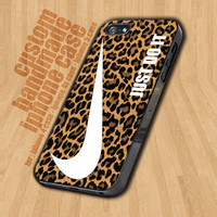 Nike Just Do It Leopard Pattern  - iPhone 4 / 4s Case - iPhone 5 Case - Black Case - White Case