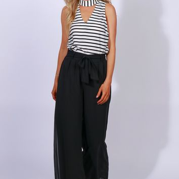 Her City Wide Leg Trouser Black