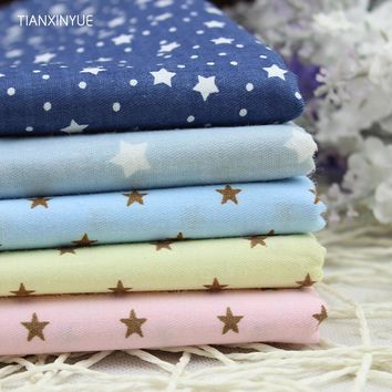 5pcs/lot 40cm*50cm Star fabric Printed Cotton Fabric for Home Textile Bedding Quilting Tissue sewing Patchwork