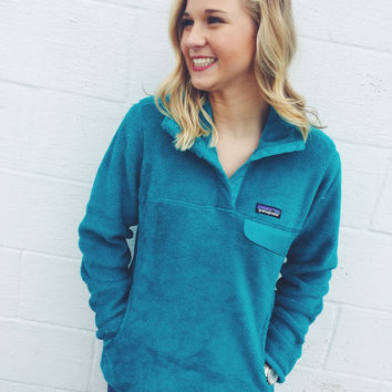Patagonia Women s Re-Tool Snap-T Fleece Pullover- Epic Blue 8e41f31b51
