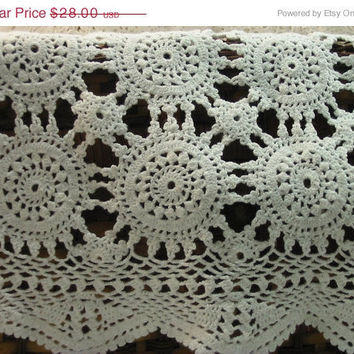 20% OFF SUMMER SALE Crochet Placemats Set of 10 Vintage Place Mats