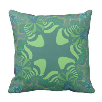 Irish Green Clover Throw Pillow
