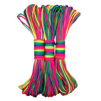 Paracord Rope Paracord 550 Climbing Rope Parachute Cord Color Lanyard Rope Mil Spec TypeIII 7 Strand Climbing Camping Equipment
