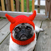 Dog Hat Little Devil / Made to Order by Sweethoots on Etsy