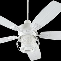 0-007737>Galveston 1-Light Ceiling Fan Light Kit Studio White