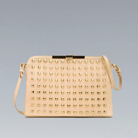 STUDDED CLUTCH WITH CLASP FASTENING - Handbags - Woman - ZARA United States