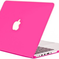 "Kuzy - Retina 13-Inch Neon Pink Rubberized Hard Case for MacBook Pro 13.3"" with Retina Display A1502 / A1425 (NEWEST VERSION) Shell Cover - Neon PINK"