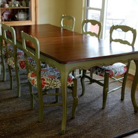 Vintage French Country Dining Set by Nodtothepast on Etsy