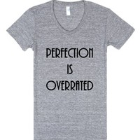Perfection is Overrated Vintage Grey T-Shirt-Athletic Grey T-Shirt