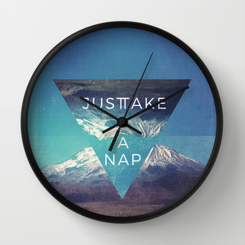 Just Take A Nap Wall Clock by MidnightCoffee