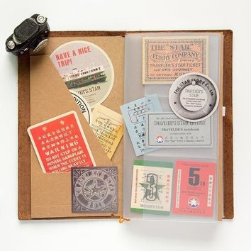 Vintage Airplane Stamps Paper Environmental Stickers Decorative DIY Travel Notebook Planner Sticker Post It Scrapbooking