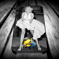 minion despicable me look marilyn monroe for iPhone 4/4s/5/5s/5c/6/6 Plus Case, Samsung Galaxy S3/S4/S5/Note 3/4 Case, iPod 4/5 Case, HtC One M7 M8 and Nexus Case **