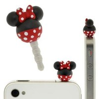 Amazon.com: Plug Apli Disney Character Earphone Jack Accessory (Minnie Mouse): Cell Phones & Accessories