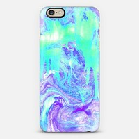 Melting Marble in Mint & Purple iPhone 6 case by Tangerine- Tane | Casetify