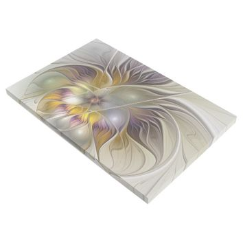 Abstract Colorful Fantasy Flower Modern Fractal Gallery Wrap
