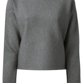 T By Alexander Wang boxy shape cropped sweatshirt