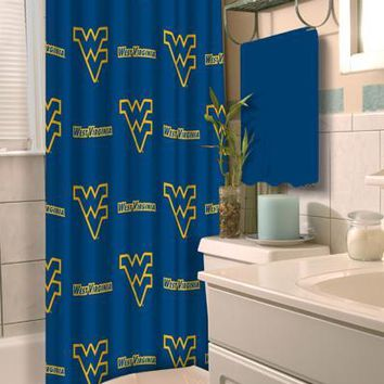 West Virginia Mountaineers NCAA 72 x 72 Shower Curtain