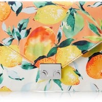 LOEFFLER RANDALL Accessories Lock Clutch Clutch,Citrus/White,One Size