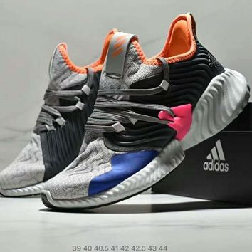 Adidas AlphaBounce Instinct Fashionable Men Casual Jogging Running Sport Shoes Sneakers Grey